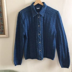 Unique indigo denim/sweater mix made in Denmark